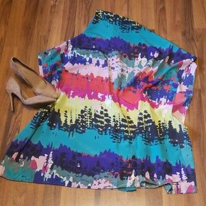{Miss Me} Colorful One Shoulder Dress